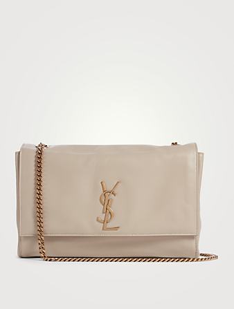 SAINT LAURENT Kate YSL Monogram Reversible Leather Bag Women's Grey