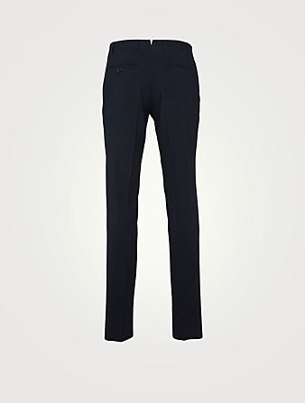 CANALI Seersucker Slim-Leg Pants Men's Blue