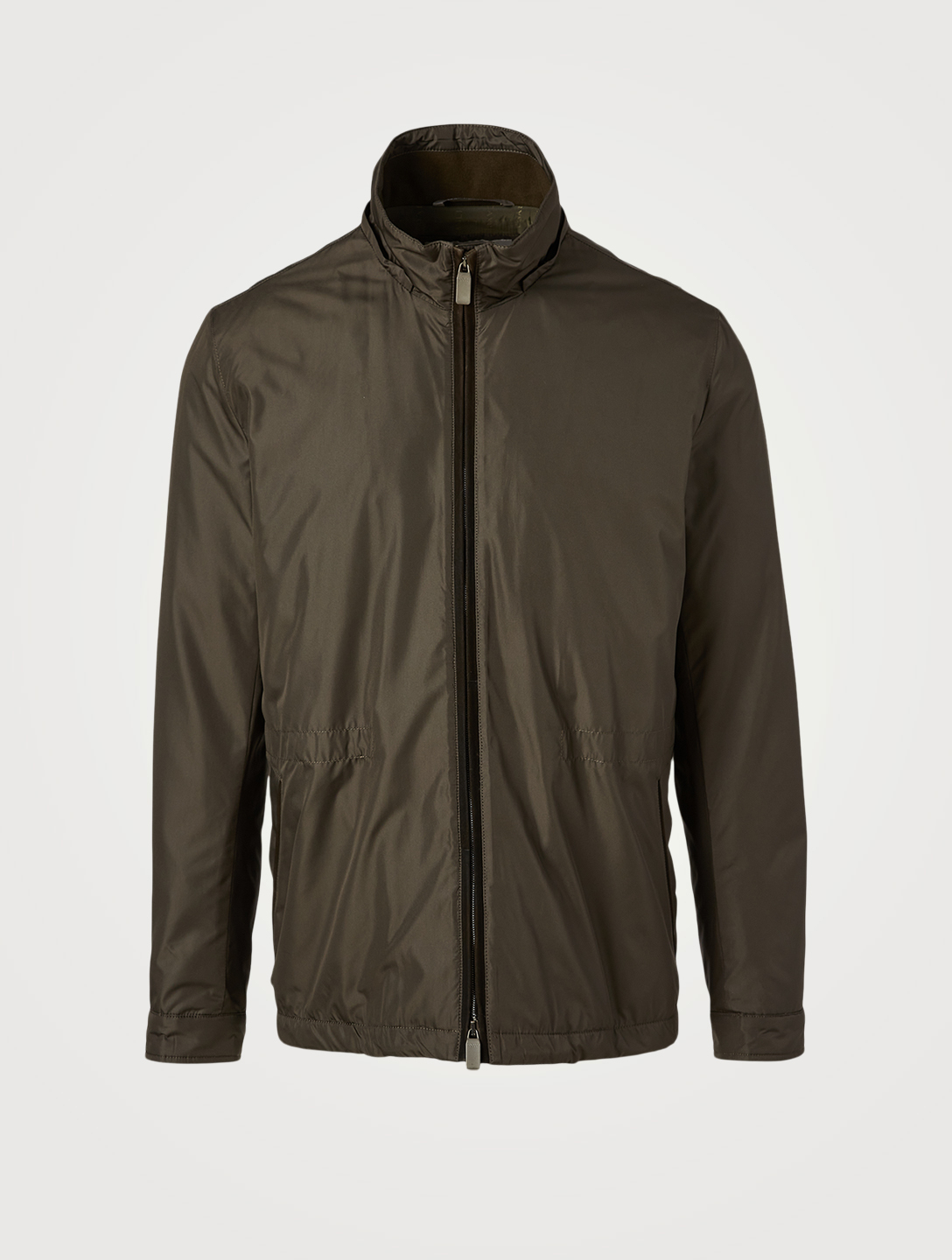 CANALI Zip Field Jacket With Hood Men's Green