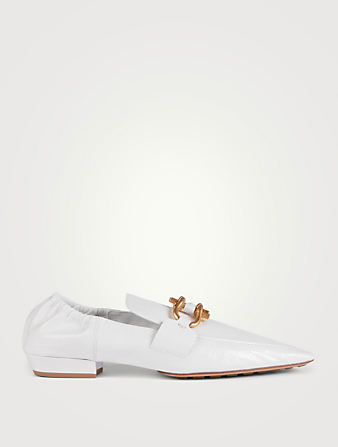 BOTTEGA VENETA The Madame Leather Moccasins Women's White