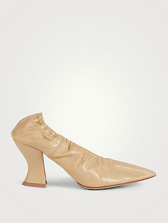 BOTTEGA VENETA Almond Crush Leather Pumps Women's Beige