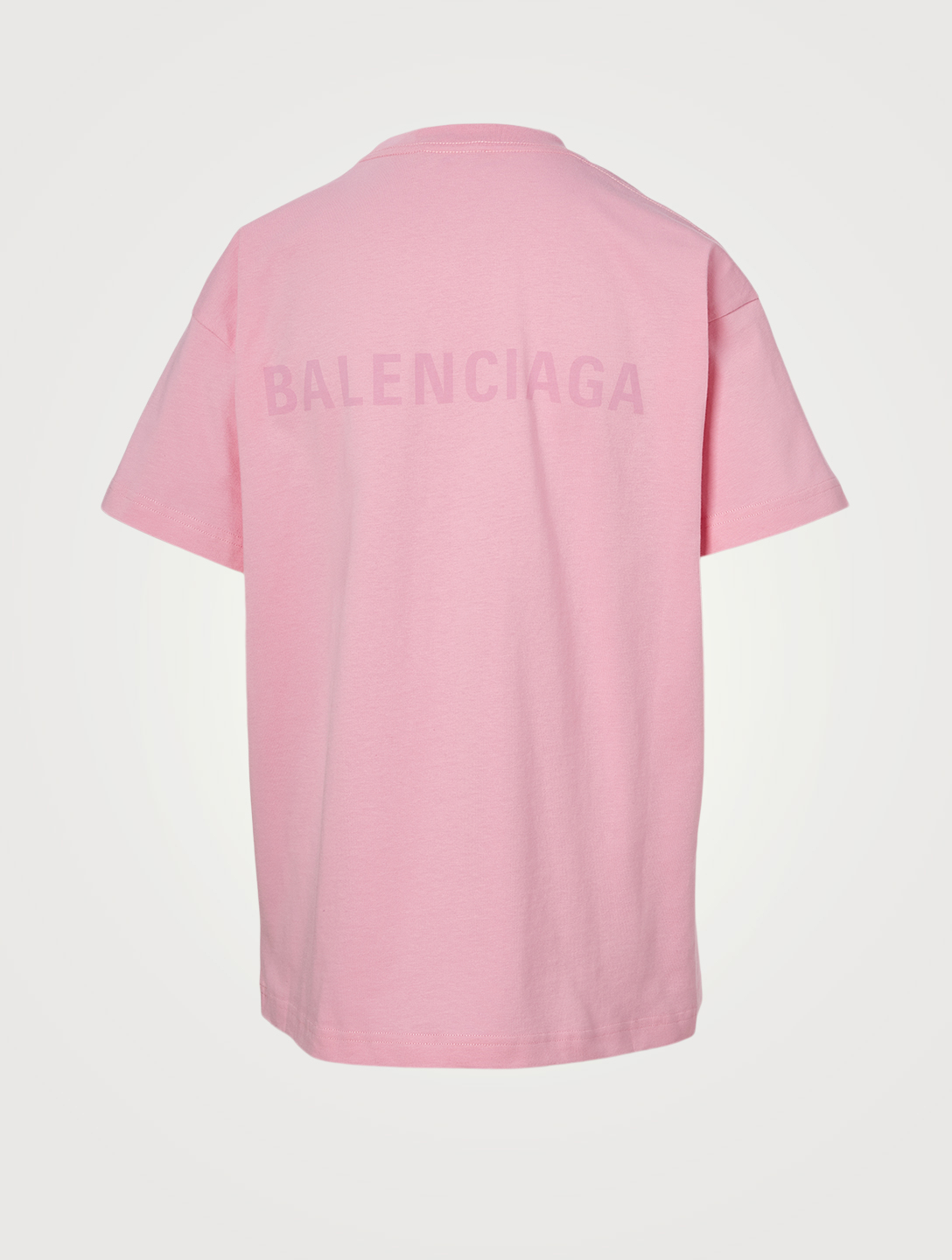 BALENCIAGA Cotton Logo T-Shirt Women's Pink
