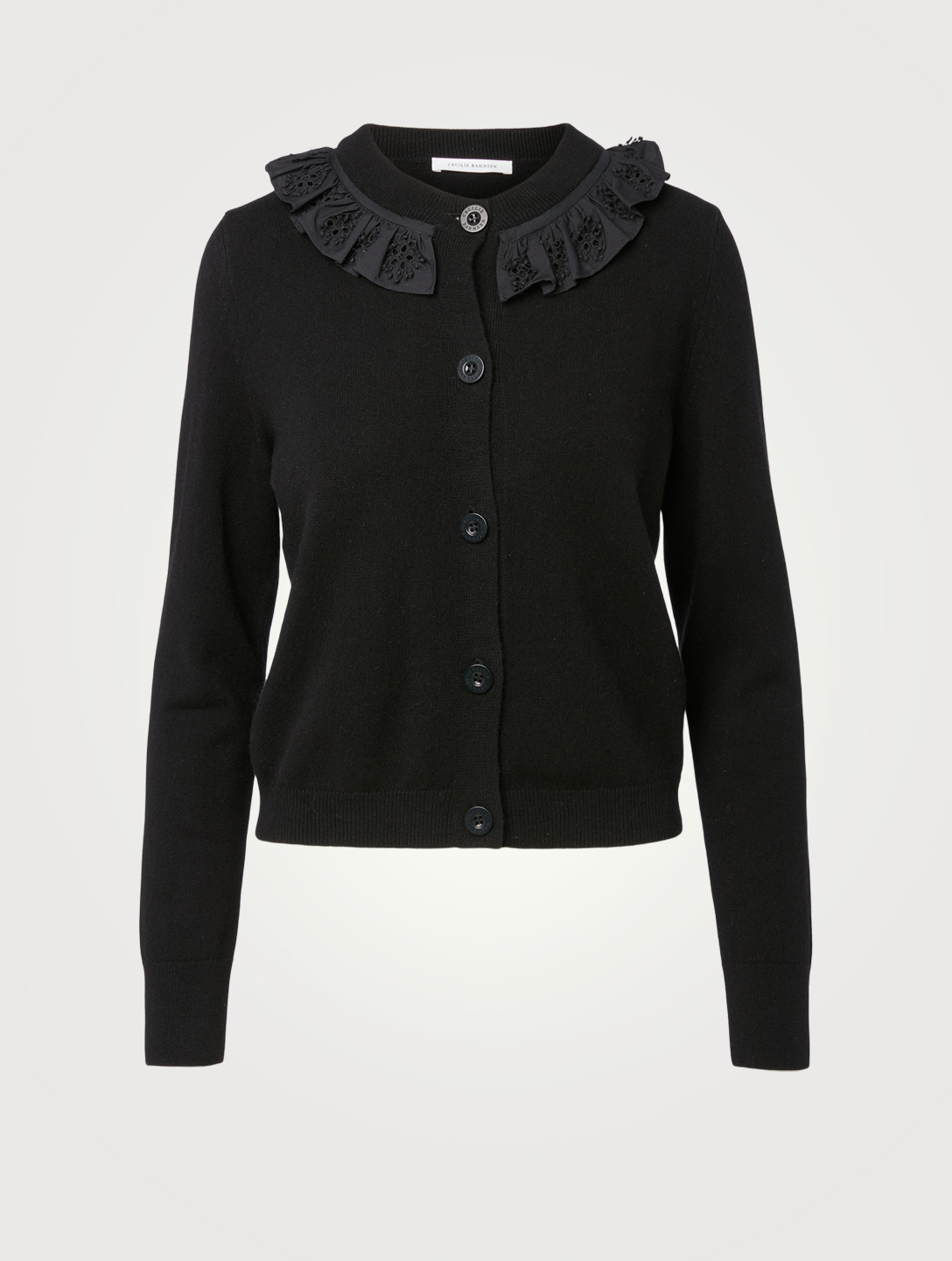 CECILIE BAHNSEN Farrah Cashmere And Wool Cardigan Women's Black