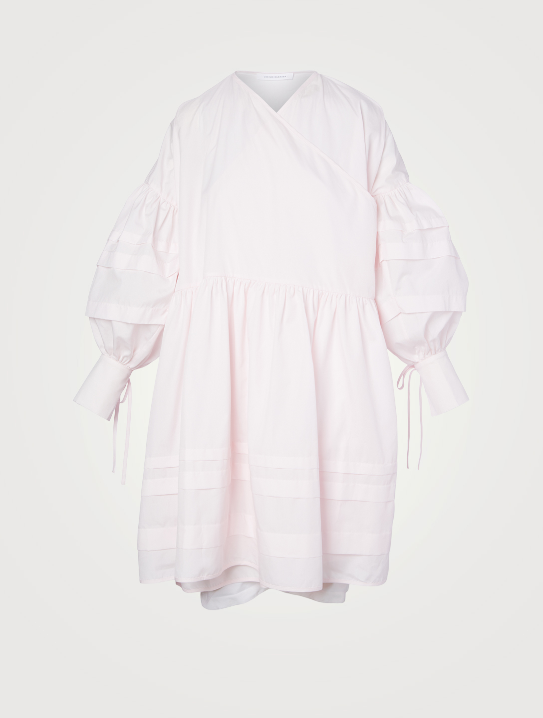 CECILIE BAHNSEN Amalie Cotton Wrap Dress Women's Pink
