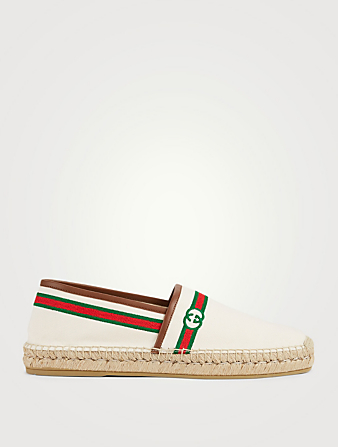 GUCCI Canvas Espadrilles Men's White