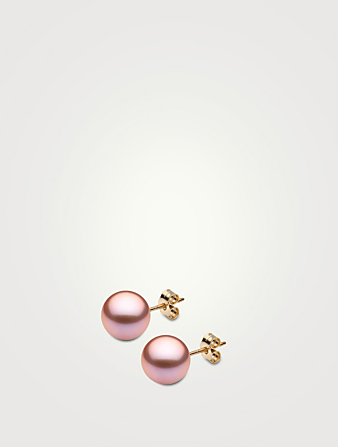 YOKO LONDON Classic 18K Gold 9mm Pearl Stud Earrings Women's Metallic