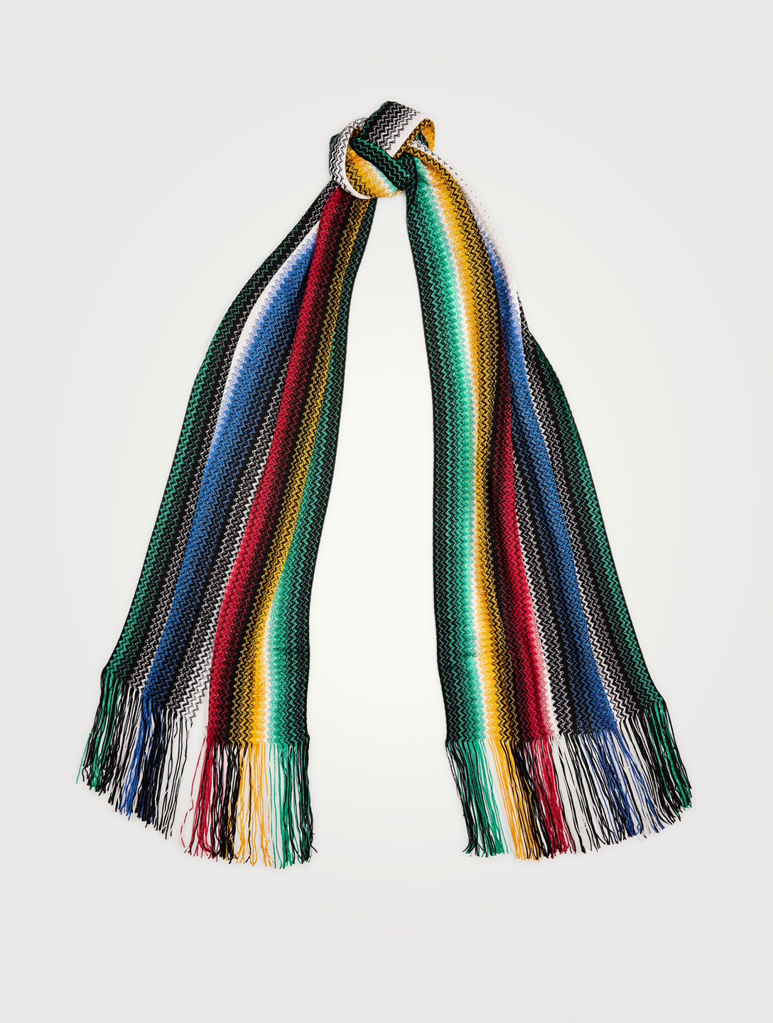 MISSONI Knit Zig-Zag Scarf Women's Blue
