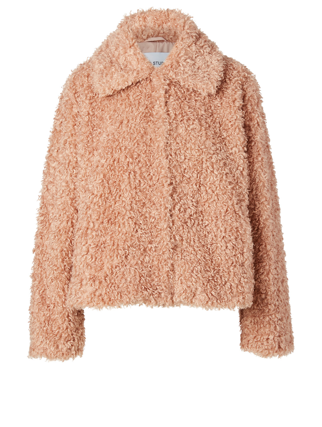 STAND STUDIO Marcella Faux Fur Shaved Jacket Women's Pink