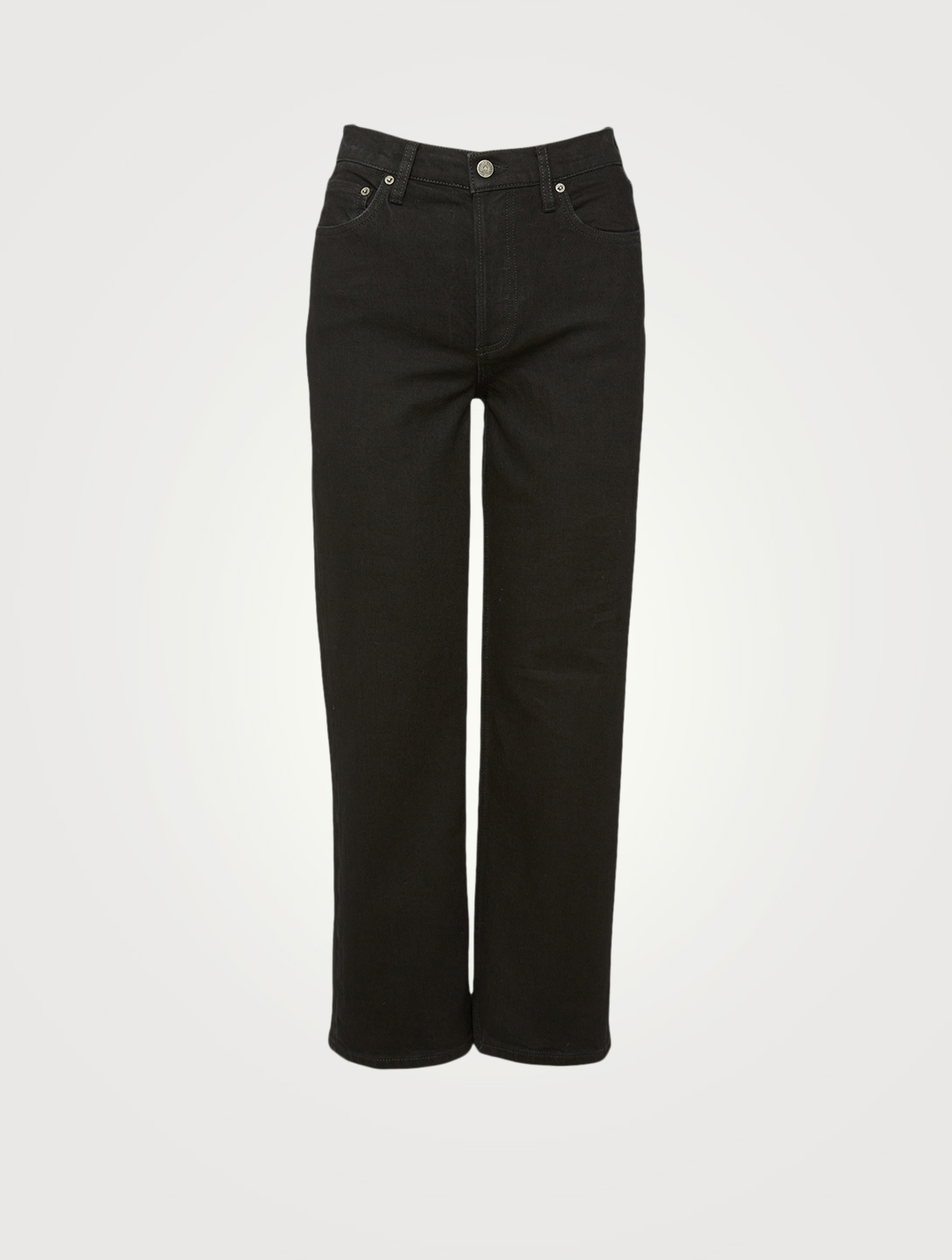 BOYISH Mikey High-Waisted Wide-Leg Jeans Women's Black