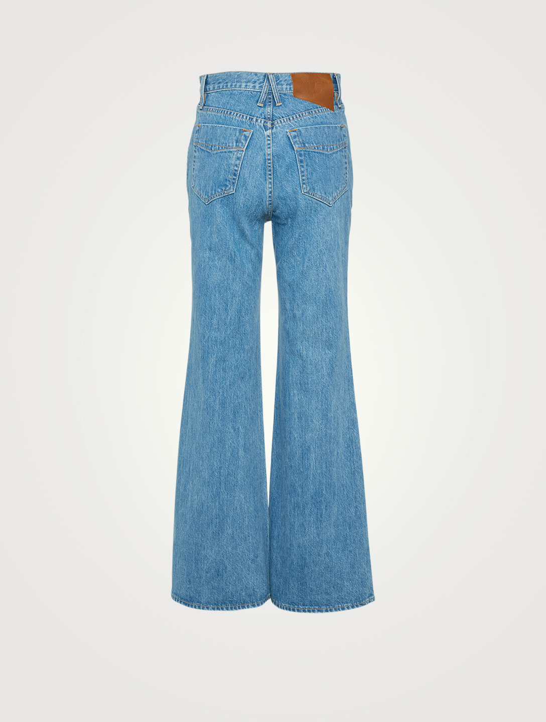 SLVRLAKE Highway Flared Jeans With Double Yoke Women's Blue