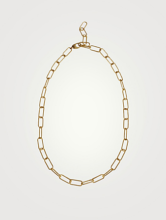 LAURA LOMBARDI Rosa 14K Gold Plated Chain Necklace Women's Metallic