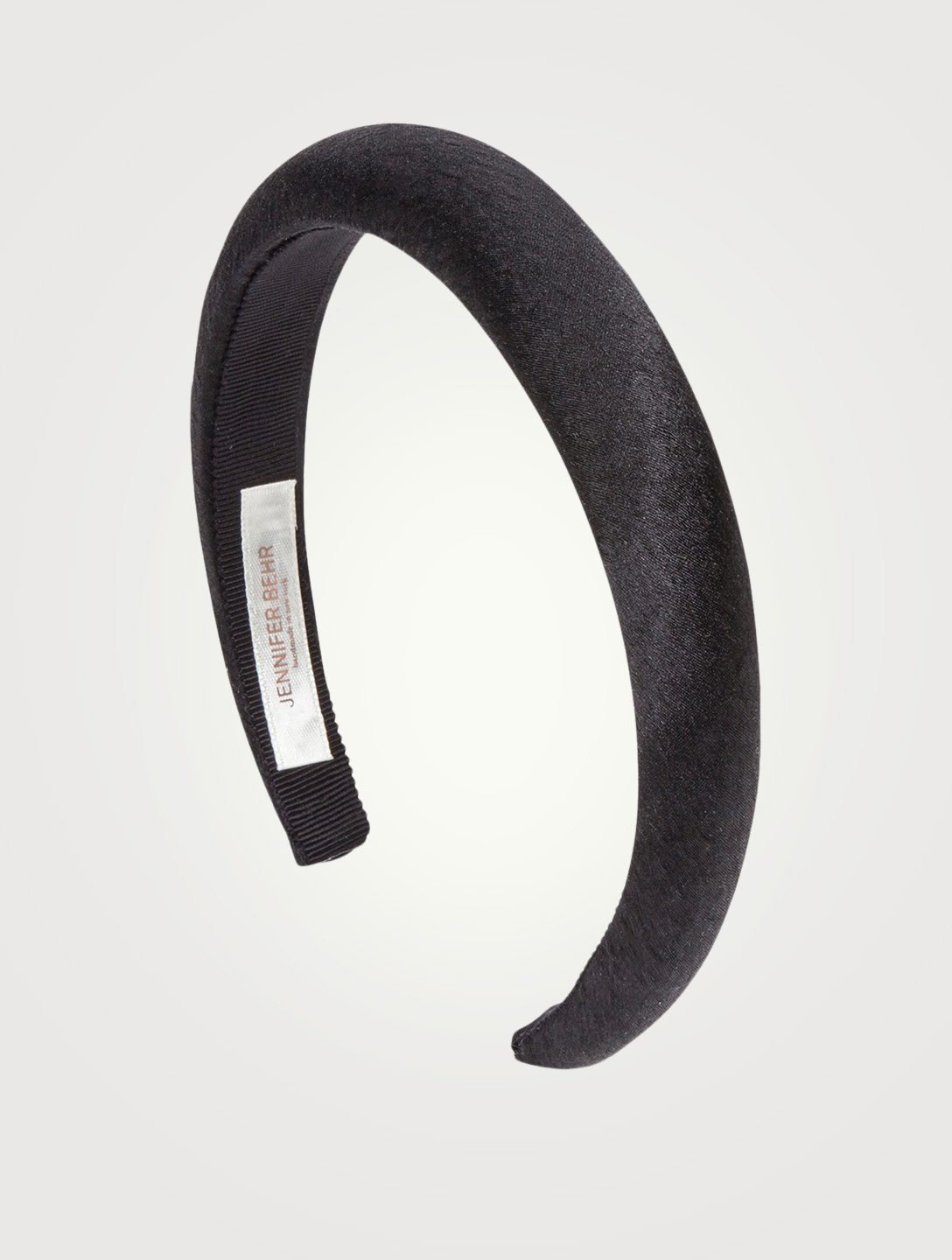 JENNIFER BEHR Tori Hammered Silk Satin Headband Women's Black