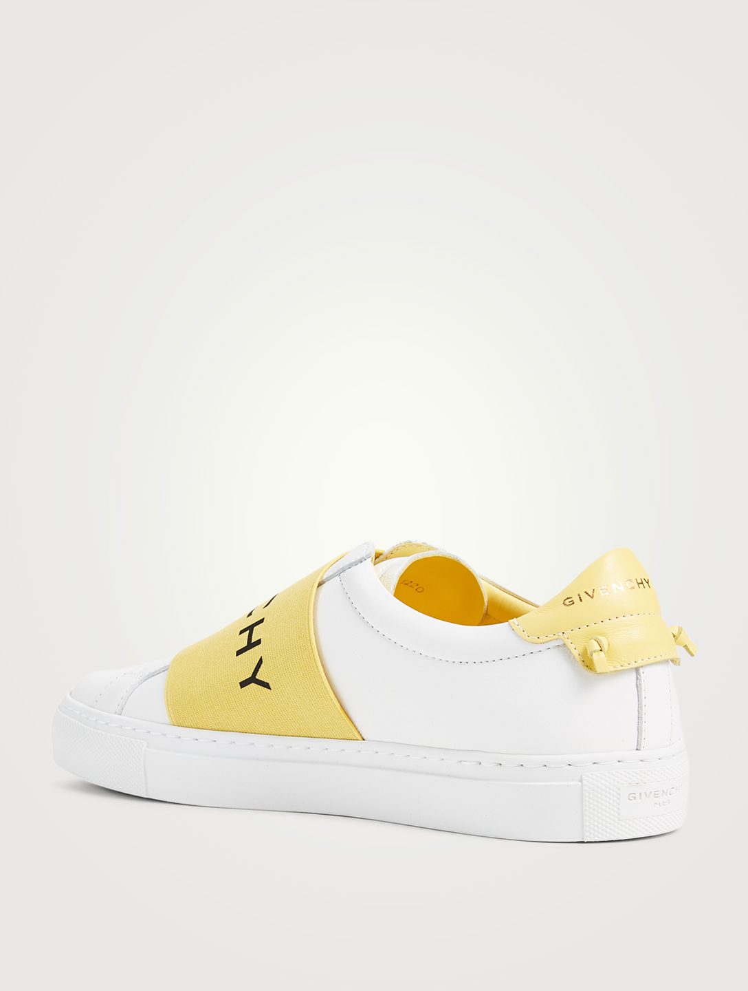 GIVENCHY Urban Street Leather Slip-On Sneakers With Logo Strap Women's Yellow