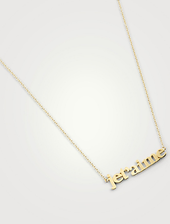 JENNIFER MEYER 18K Gold Je T'Aime Necklace Women's Metallic