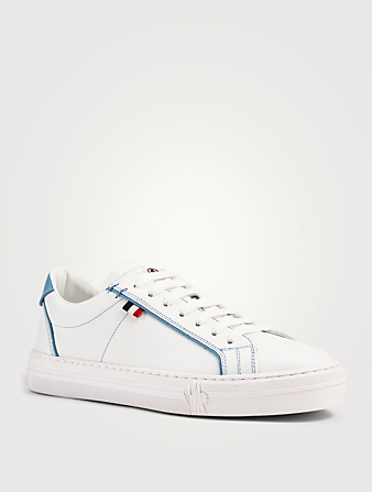 MONCLER Alodie Leather Sneakers Women's Blue
