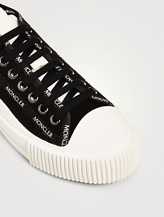 MONCLER Glissiere Canvas Sneakers Women's Black