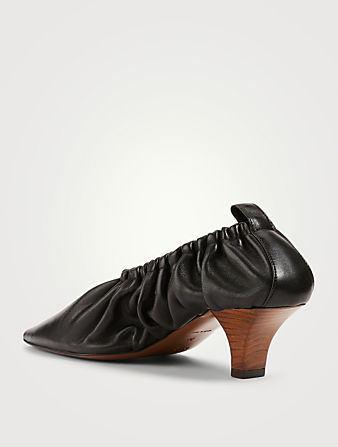 NEOUS Phinia 55 Gathered Leather Pumps Women's Black