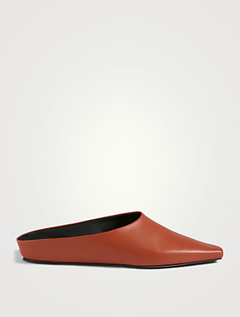NEOUS Alba Leather Flat Mules Women's Brown