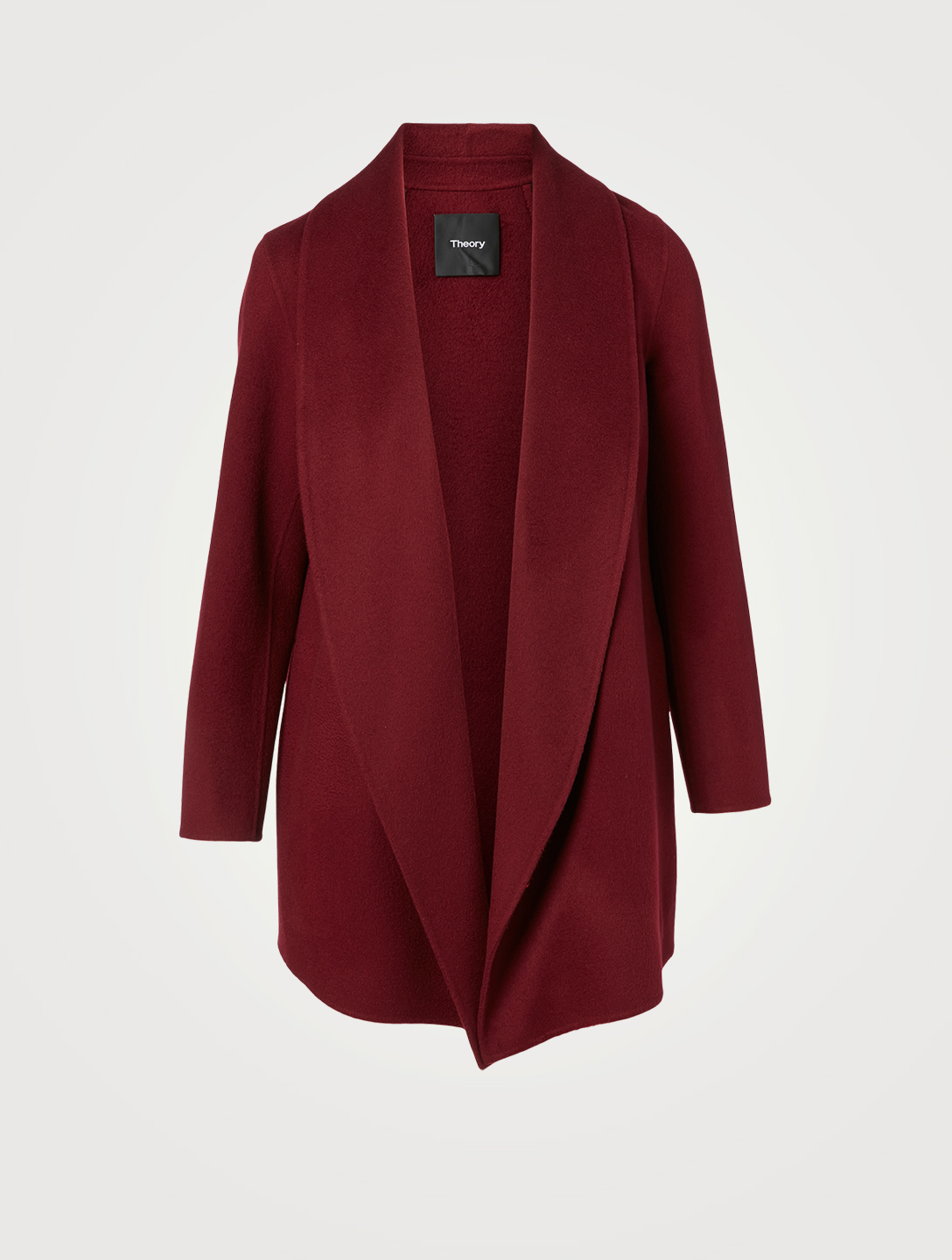 THEORY Clairene Wool And Cashmere Shawl Coat Women's Red