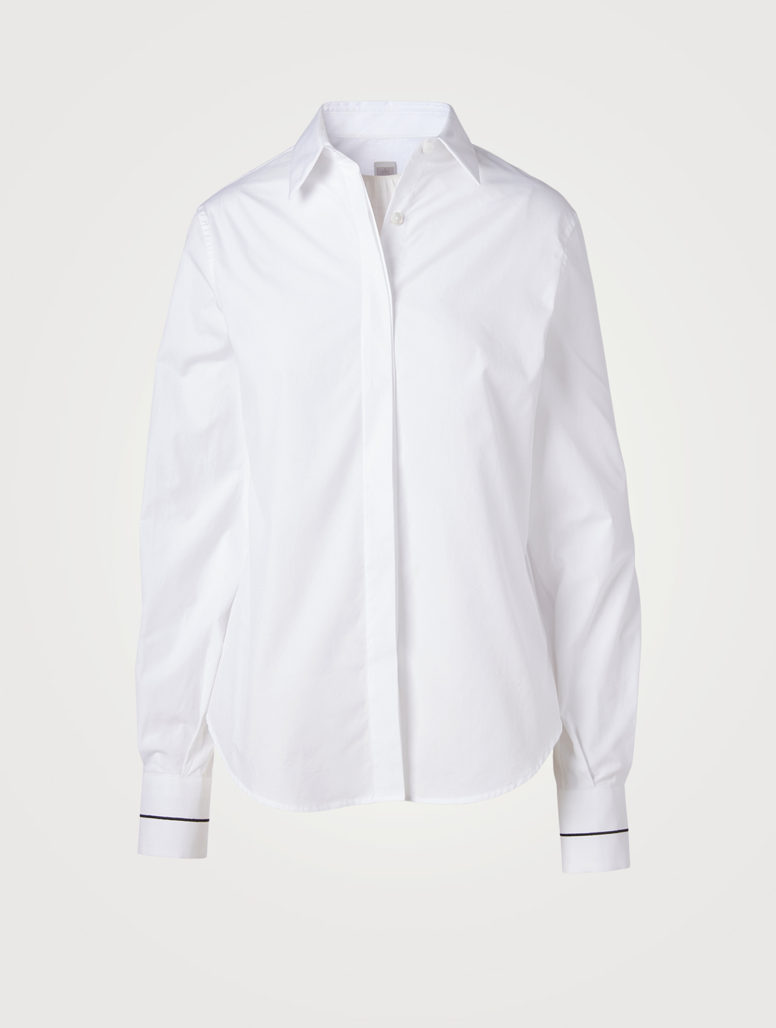 ELEVENTY Cotton Shirt With Stitch Detail Women's White