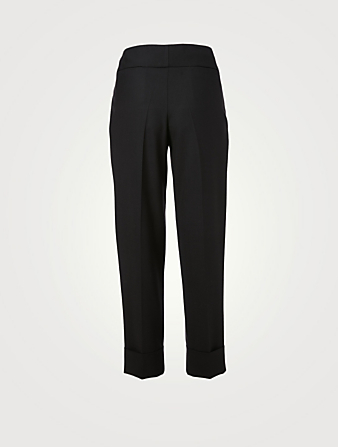 ELEVENTY Wool Stretch Cuffed Pants Women's Black