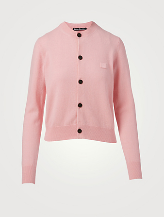ACNE STUDIOS Wool Fitted Cardigan Women's Pink