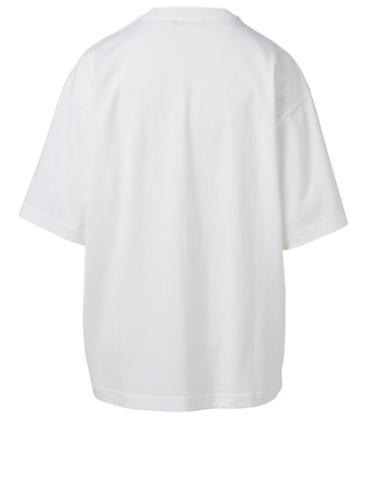 ACNE STUDIOS Organic Cotton Relaxed T-Shirt Women's White