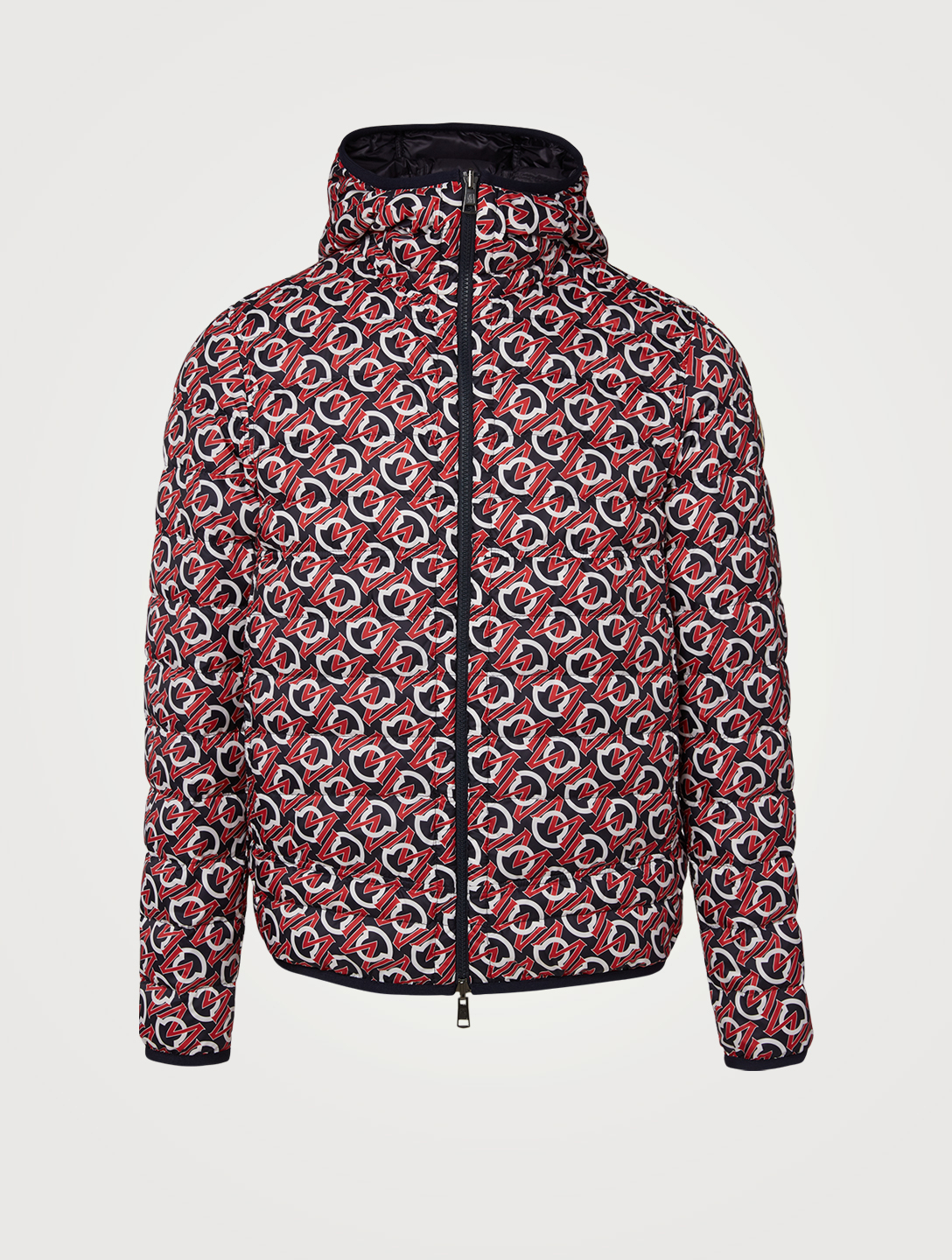 MONCLER Zois Reversible Down Puffer Jacket In Logo Print Men's Blue