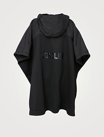 MONCLER Oversized Poncho With Hood Women's Black