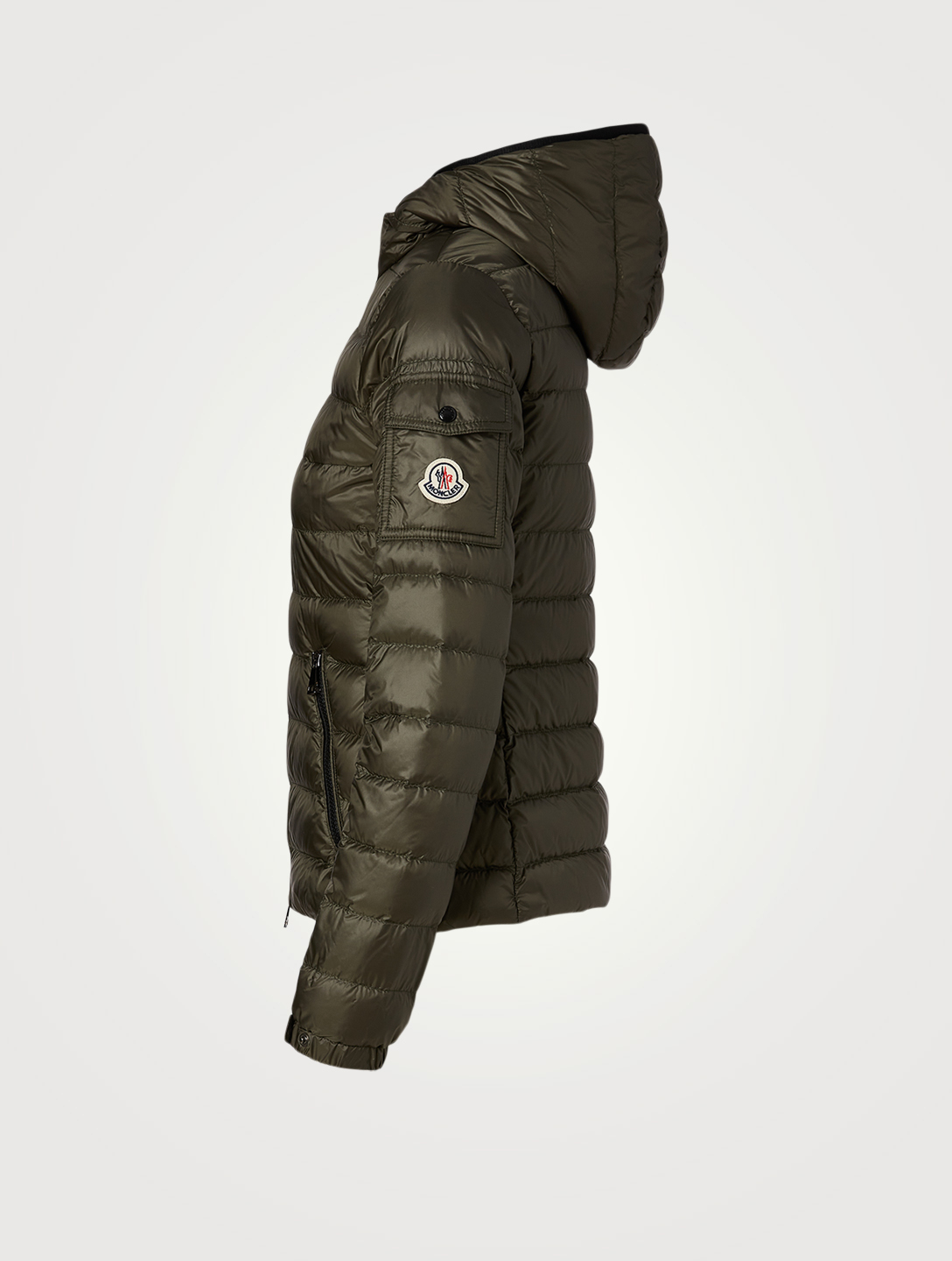 MONCLER Bles Down Quilted Jacket With Hood Women's Green