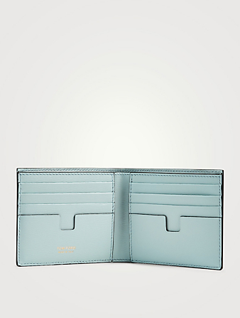 TOM FORD T Line Leather Bifold Wallet Men's Blue