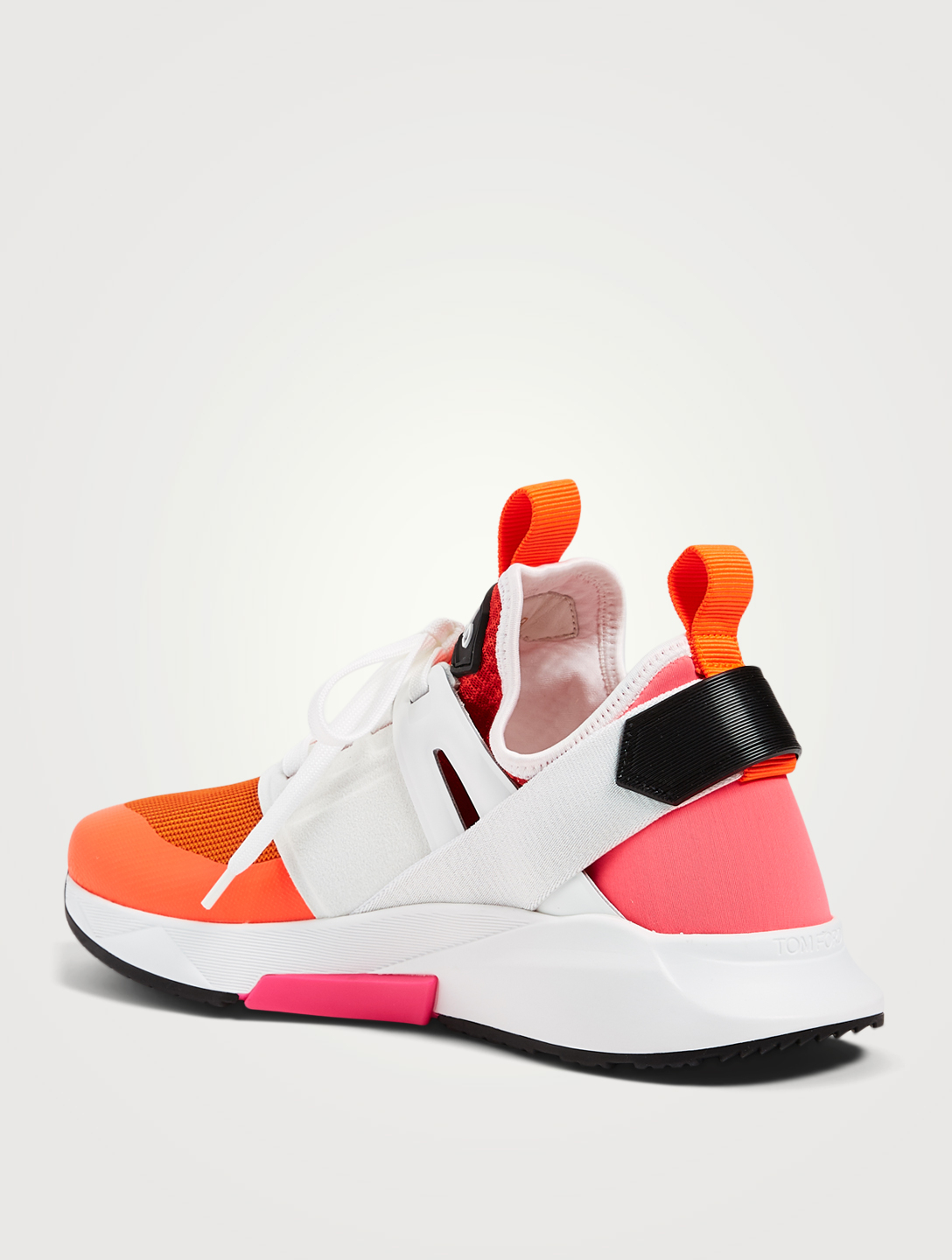 TOM FORD Sneakers Jago en maille de nylon Hommes Orange