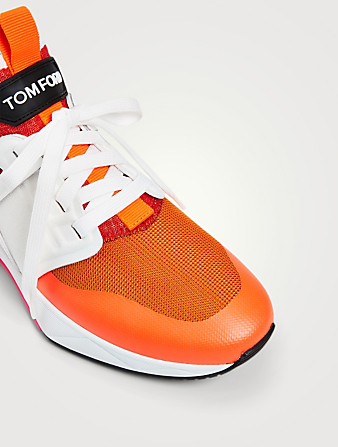 TOM FORD Jago Nylon Mesh Sneakers Men's Orange