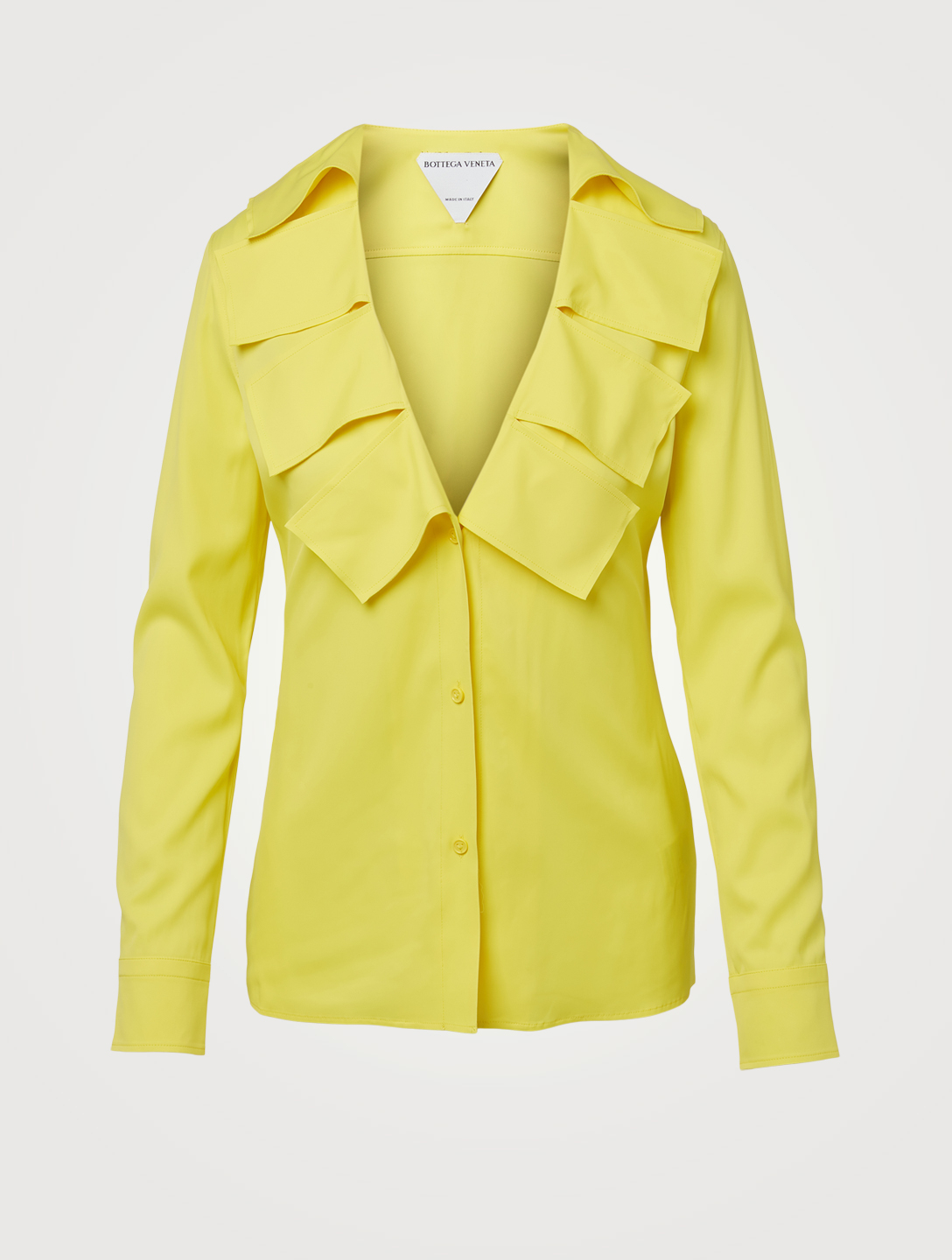 BOTTEGA VENETA V-Neck Blouse With Fringe Women's Yellow