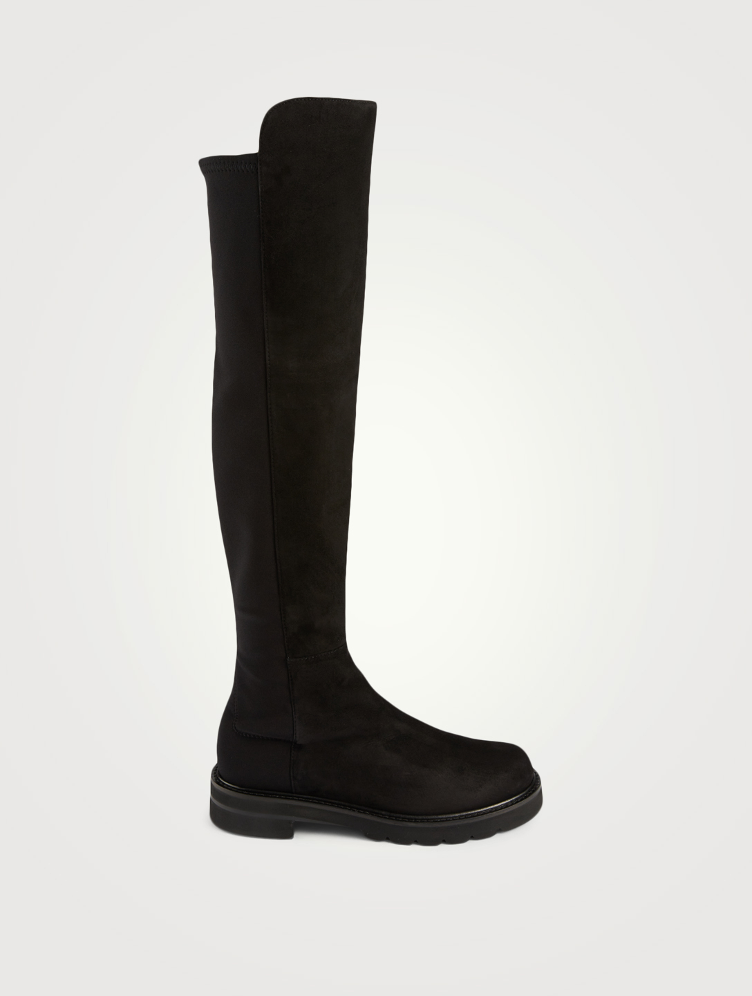 STUART WEITZMAN 5050 Lift Suede And Micro Stretch Over-The-Knee Boots Women's Black