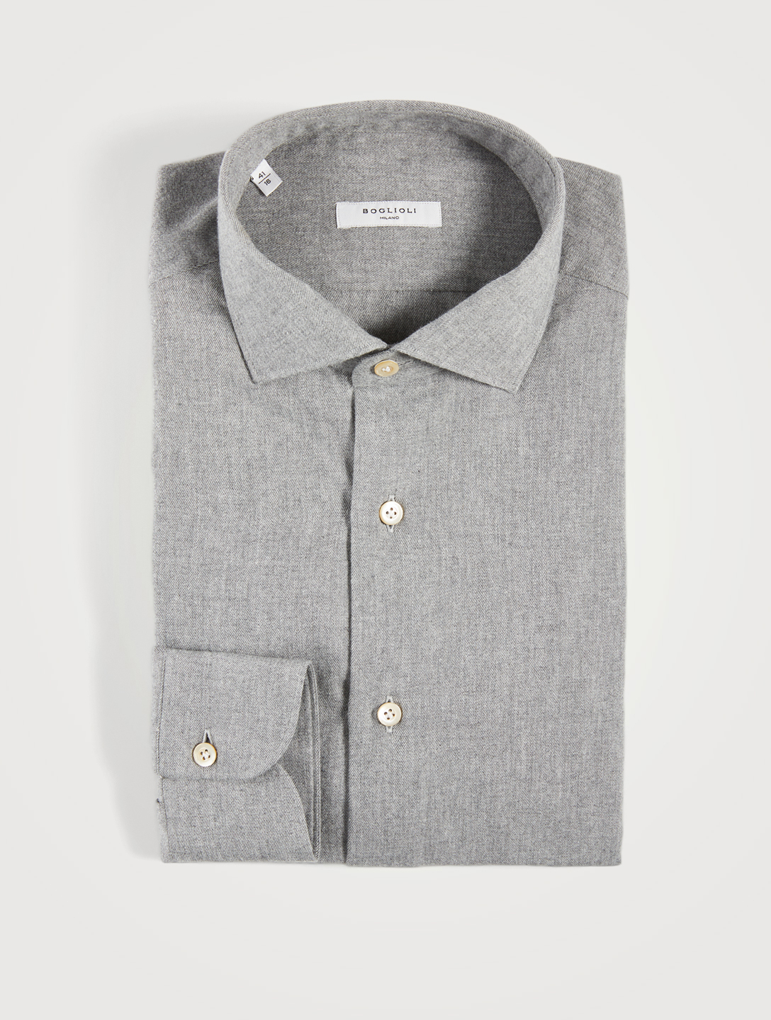 BOGLIOLI Flannel Slim-Fit Shirt Men's Grey