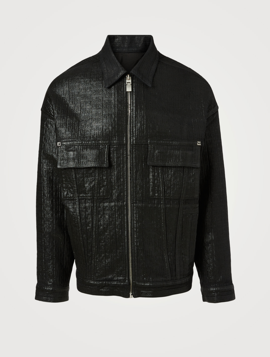 GIVENCHY 4G Polished Oversized Denim Men's Black