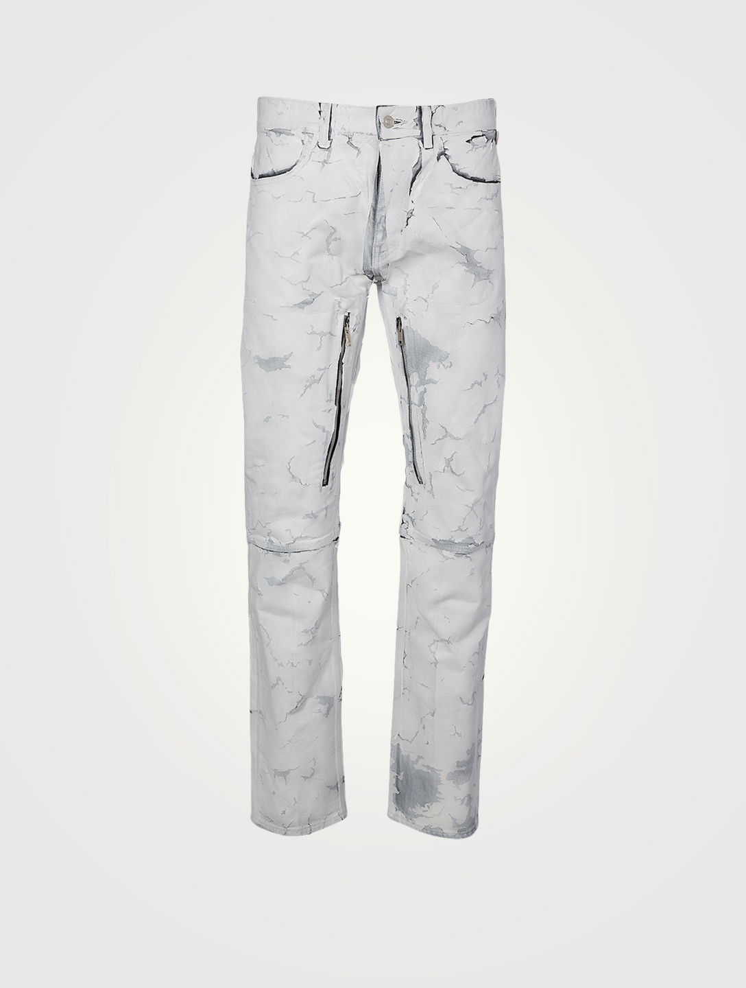 GIVENCHY Straight-Fit Jeans With Zippers Men's White