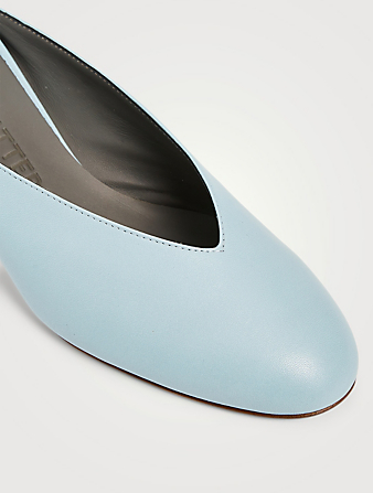 GRAY MATTERS Egg Leather Mules Women's Blue