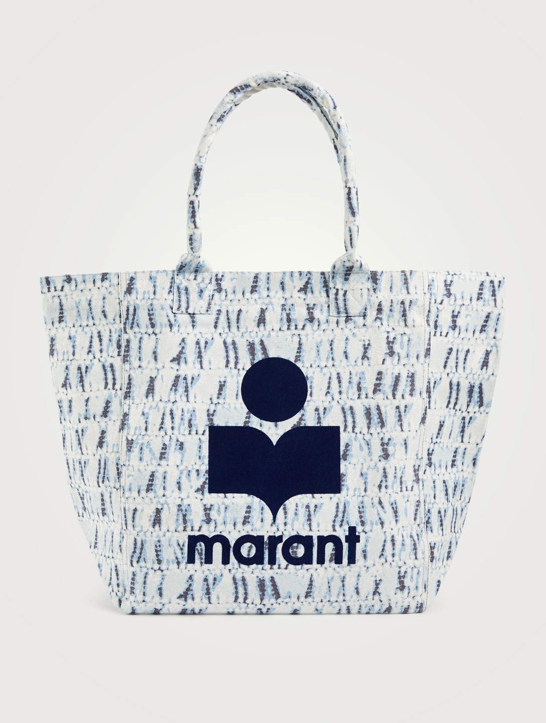 ISABEL MARANT Yenky Canvas Tote Bag In Tie Dye Print With Logo Women's Blue