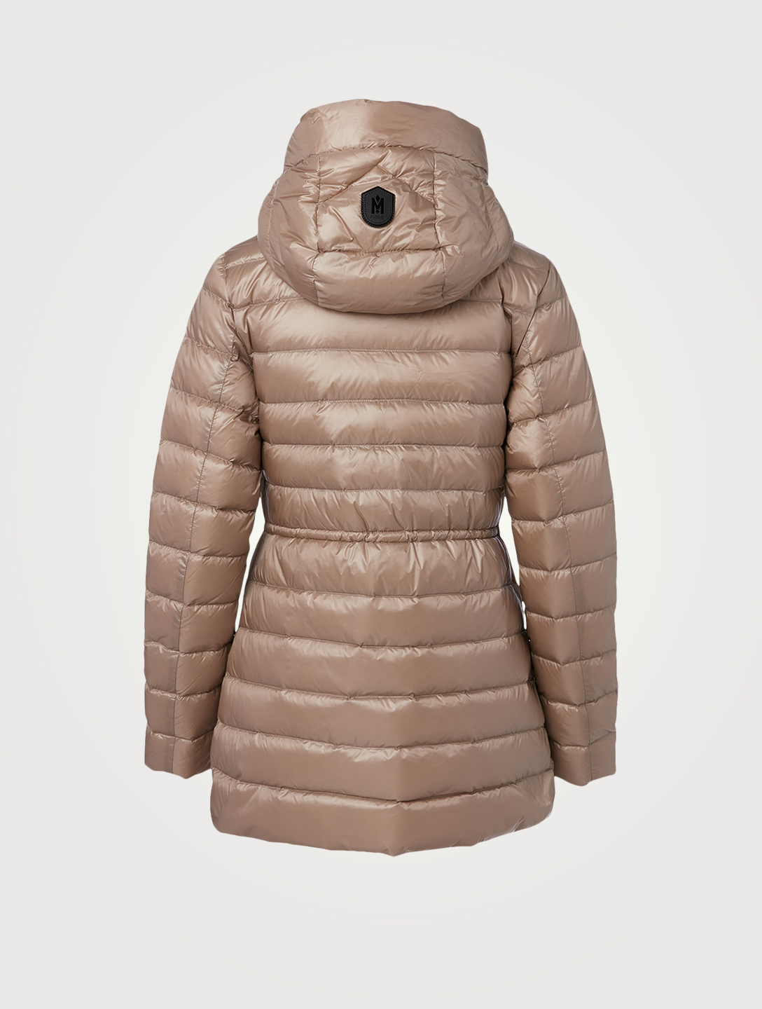MACKAGE Ivy Sateen Fitted Down Jacket With Hood Women's Beige