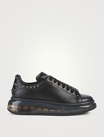 ALEXANDER MCQUEEN Oversized Leather Sneakers With Spikes Women's Black