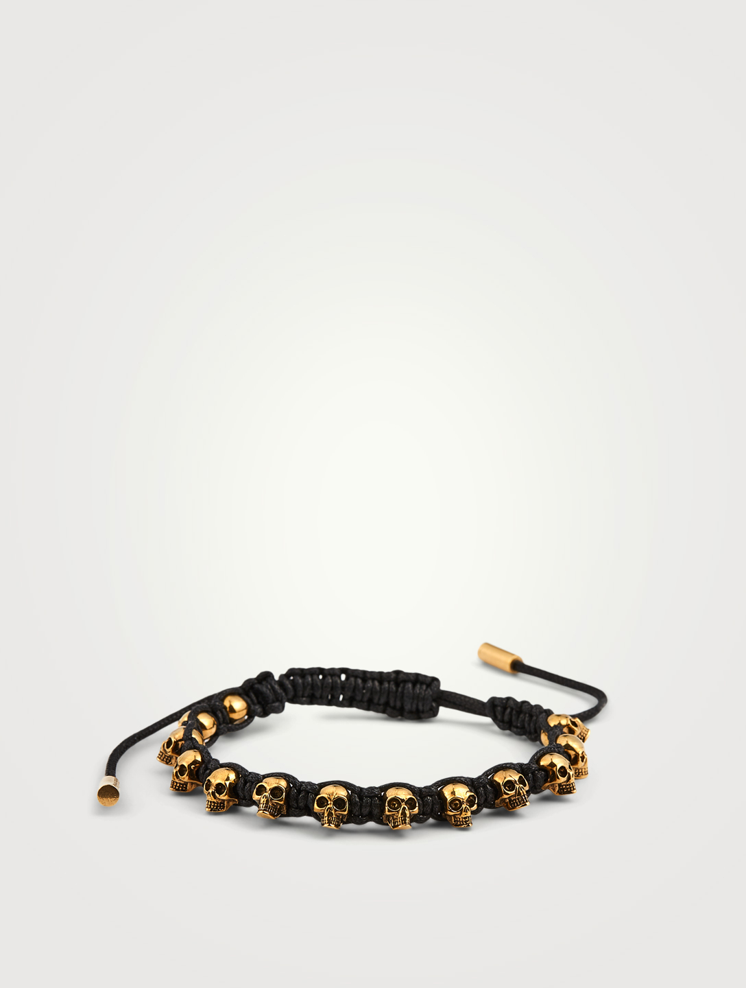 ALEXANDER MCQUEEN Skull Friendship Bracelet Men's Black