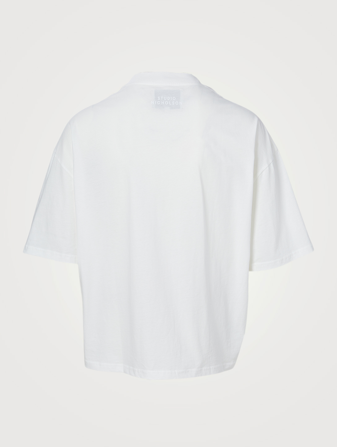 STUDIO NICHOLSON Piu Boxy-Fit T-Shirt With Tonal Logo Men's White