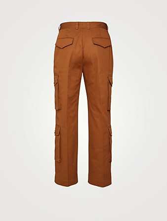 KENZO Cotton Cargo Pants Men's Brown