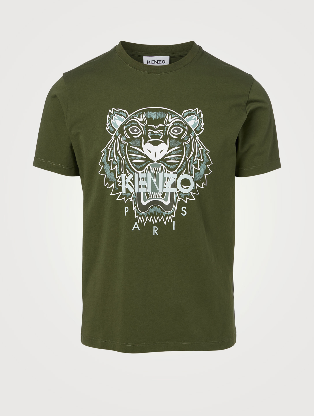 KENZO Tiger Cotton T-Shirt Men's Beige