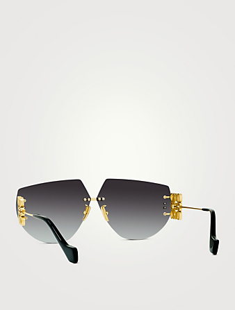 LOEWE Shield Sunglasses Women's Metallic