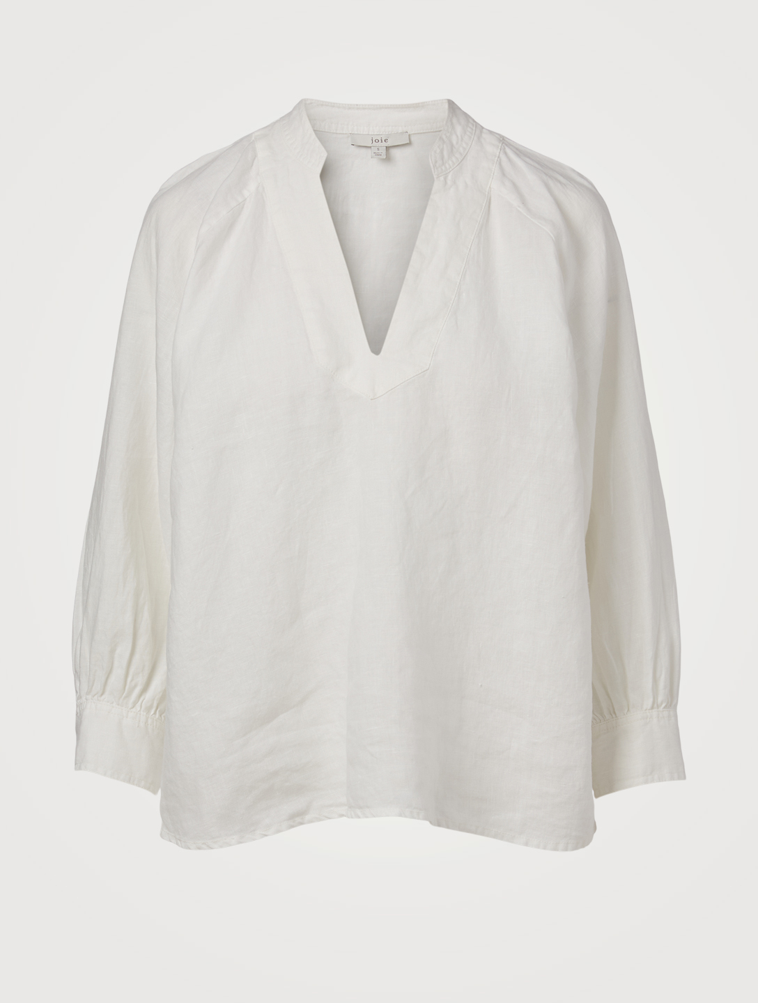 JOIE Perci Linen Top Women's White