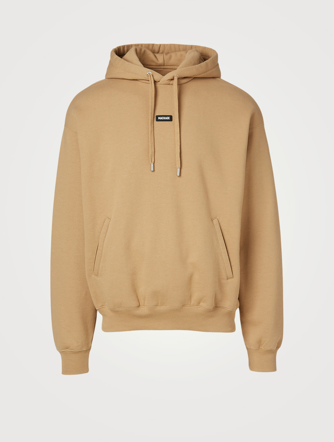 MACKAGE Phoenix Fleece Jersey Hoodie Men's Beige