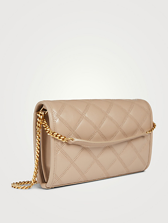 SAINT LAURENT Becky YSL Monogram Leather Chain Wallet Bag Women's Neutral